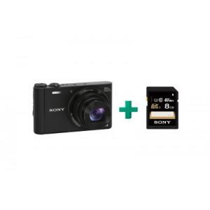 Sony Cyber-shot DSC-WX300 - Μαύρο & 8 GB SD Card